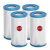 ZBCN Filtro para bombas de piscina, filtro Bestway IV y Intex B, repuesto para filtro de piscina hinchable (14,5 x 25,4 cm) (4)