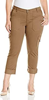 LEE Women's Plus Size Modern Series Midrise Fit Brinley Cargo Pant, Falcon, 24W/Medium
