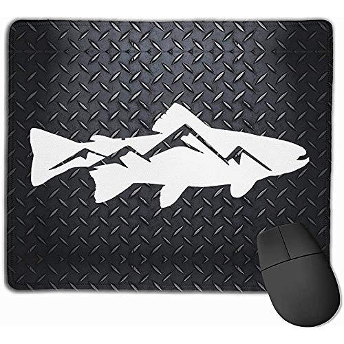 Forellen-Berg-Mauspads-Pack mit rutschfestem Gummi-Basis-Mauspad für Computer