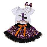 TKLLOVE Halloween Decoración Niños, 2019 Nuevo Niños Bebé Niñas Halloween Letra Romper Calabaza...