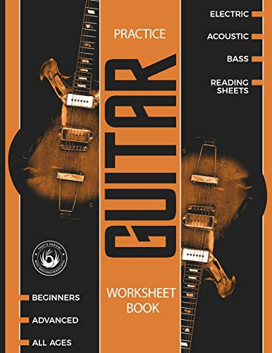 Guitar Practice Worksheet Book: Blank Tablature Music Manuscript Paper with Chord Charts – 100+ pages