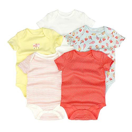 Chickwin Strampler Baby mädchen, Strampler Baby Mädchen Junge Unisex Spielanzug Baumwolle Schlafanzug für Neugeborene, Babies und Kleinkinder in Verschiedenen Größen (6M,Roter Kegel)