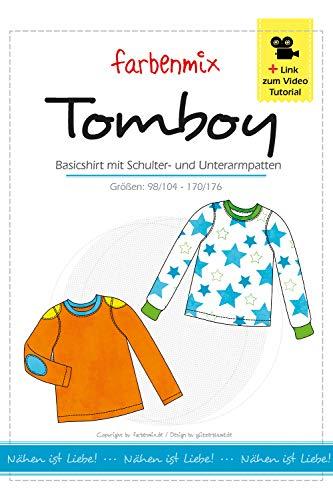 Farbenmix Tomboy Schnittmuster (Papierschnittmuster für die Größen 98/104-170/176) Shirt
