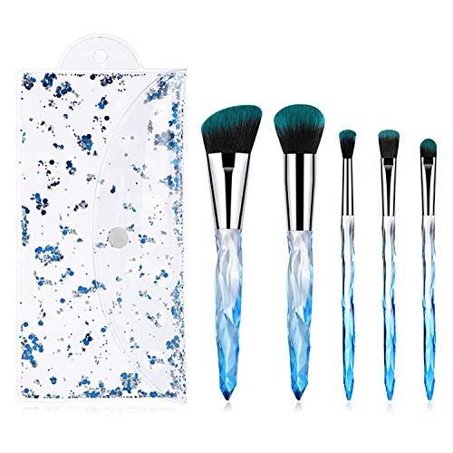 La mode 5pcs pinceaux de maquillage pinceau de maquillage professionnel prime Premium Fondation Kabuki synthétique mélange de pinceau poudre de visage blush correcteur ombres à paupières maquillage pi