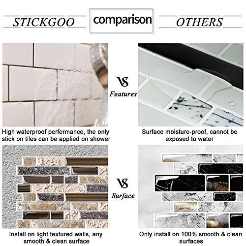 Stickgoo Anti Mold Peel And Stick Wall Tile Self Adhesive Kitchen Backsplash In Sandstone Pack Of 5 Thicker Design Buy Online In El Salvador At Elsalvador Desertcart Com Productid 139048495