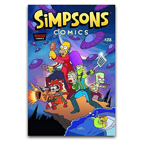 Póster de anime de los Simpsons Simpson para decoración de pared, 40 x 60 cm