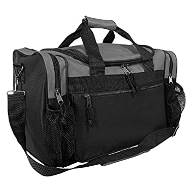 DALIX 17  Duffle Bag Front Mesh Pockets in (Gray)