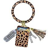 Keychain Bracelet, Doormoon Tassel Key Chain Wristlet Ring for Women Valentines Jewelry Gifts