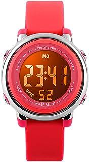 Abset Kids Watch Multi Function 7 Color Lights Toddler Wrist Digital Sport Waterproof Watch, Alarm Stopwatch for boy Girl Child Watch