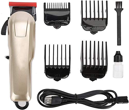 Electric Trimmer USB Rechargeable Electric Hair Clipper Steel Blade Hair Cutting Trimmer 3V 1-2A Voltage