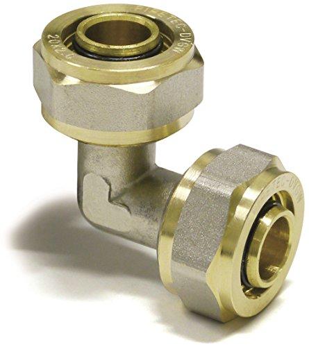 16er Schraubfitting -Winkel 90° für Aluverbundrohr, Schraubfitting 16x2, DVGW
