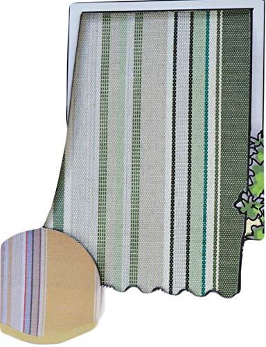 R.P. Coppia Tende da Sole per Esterno in Tessuto multirighe con Anelli per Balcone, terrazzo, casa - Cm 150x250 - Verde