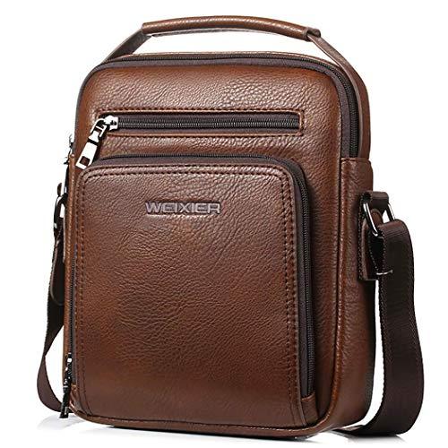 Bageek Umhängetasche Herren Kleine Tasche PU Leder Herren Taschen PU Leder Handtasche Herren Messenger Bag (braun)