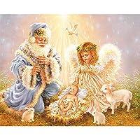 大人のための1000ピースパズル-老人と天使の赤ちゃんジグソーパズル-楽しいパズル教育家族ゲームおもちゃ大人のためのギフト10代75.5×50.5cm