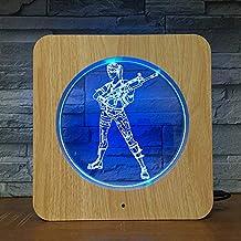 Juego de niña predeterminado 3D LED Plástico Luz de noche Lámpara de mesa DIY Lámpara de mesa Niños Colores Regalo para niños Decoración del hogar 1712