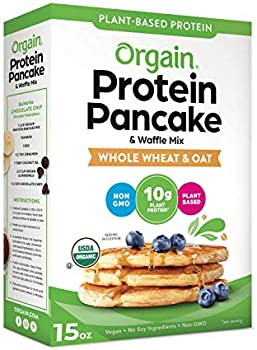 Orgain Protein Pancake & Waffle Mix, Whole Wheat & Oat