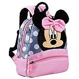 FGen Minnie Mochilas Escolares, Disney Minnie Mouse Mochila, Material Escolar para Niñas Mochila Infantil, Toddler Kids Mochila Escolar para Niños Pequeños, Mochila para 2-7 años (Rosa)
