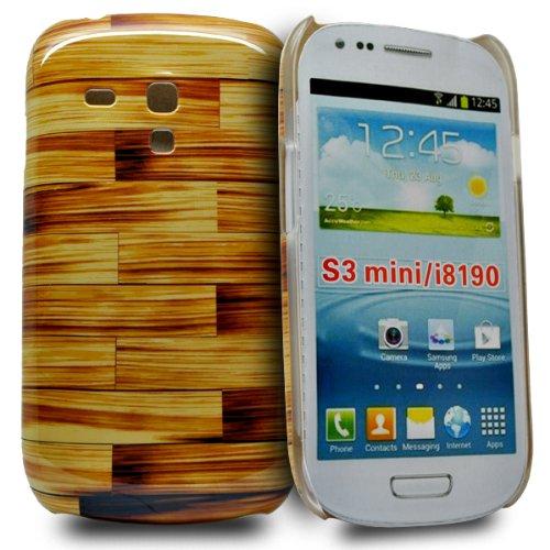 Accessory Master Phonedirectonline-Cover Ibrida, Legno, Marrone-Cover Rigida per Samsung Galaxy S3 Mini i8190