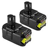 Topbatt 2X 18V 5.5Ah pour Ryobi Lithium-ion Batterie de remplacement ONE+ P108...