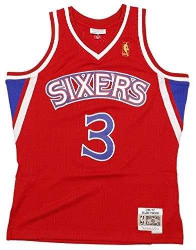 Mitchell & Ness Allen Iverson #3 Philadelphia 76ers 1996-97 Swingman NBA Trikot ROT, M