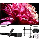 Sony XBR-85X950G 85-Inch Class BRAVIA 4K HDR UHD Smart TV (2019) w/Soundbar Bundle Includes, Deco Gear Home Theater Surround Sound 31' Soundbar, Flat Wall Mount Kit for 45-90 inch TVs and More