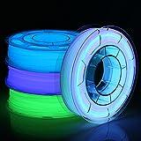 AMOLEN Filamento PLA 1.75, Impresora 3D Filamento, Filamento Glow in the Dark Verde, Azul,...