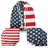 Cornhole Bags Weather Resistant Cornhole Bean Bags Duckcloth Canvas Corn Filled Double Stitched Corn Hole Bean Bags Portable Tote Bag American Flag Regulation Cornhole Bags For Kid Tossing Tournament