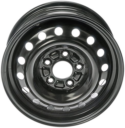 Dorman 939-196 Black Wheel with Painted Finish (15 x 6. inches /5 x 114 mm, 46 mm Offset)