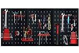 UISEBRT - Panel perforado para herramientas (metal, 3 piezas, 17 ganchos,...