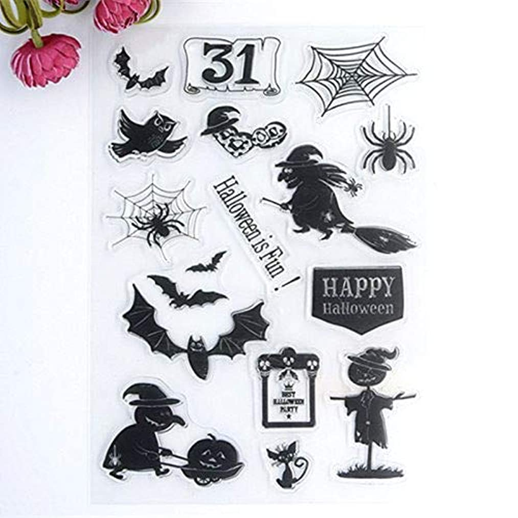 Welcome to Joyful Home 1pc Halloween Style Rubber Clear Stamp for Card Making Decoration and Scrapbooking