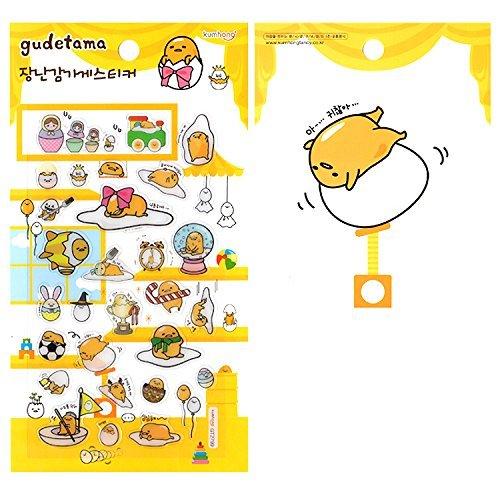 Gudetama Sanrio Lazy Egg Epoxy Puffy 3D-Aufkleber im Spielzeug-Shop