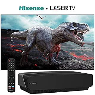 100 inch 4K Ultra HD HDR Smart DLP Technology Short-Throw Laser TV with Bluetooth, Voice Control, DBX-tv and Android TV OS with 100 Inch Laser TV Projector Screen (B08B4QL2C3) | Amazon price tracker / tracking, Amazon price history charts, Amazon price watches, Amazon price drop alerts