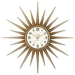 Acctim 21760 Stella Sprayed Starburst Wall Clock, Gold by Acctim