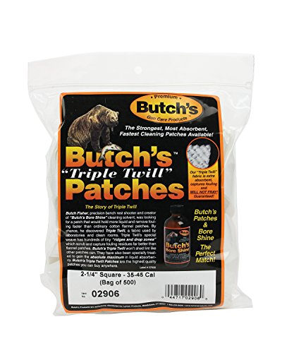 Butch's Twill Cleaning Patches (Bag of 500) (2-1/4-Inch)