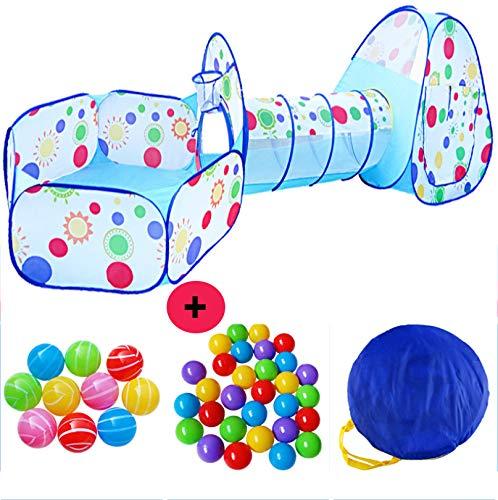 Speeltent Voor Kinderen Tunnel Voor Kinderen Pop-Up Tent 3 in 1 Speelhuisje Kruipen Buitenspeeltuin Met Opbergtas En Bal Voor Jongens Meisjes Baby's Kinderen Geschenken,tent + 500 balls