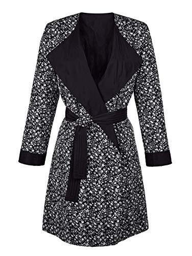 Alba Moda Damen Mantel Schwarz 34 Kunstfaser