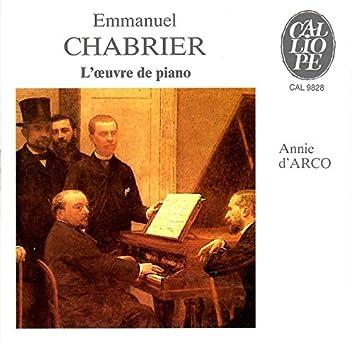 Chabrier: L'œuvre de piano