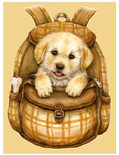 Rugzak Diamant Mozaïek Schilderij Labrador Hond Strass Borduurwerk Dier Diamant Kunst Teken Foto Puzzel Muur Papier Home Decor 30 x 40 cm.