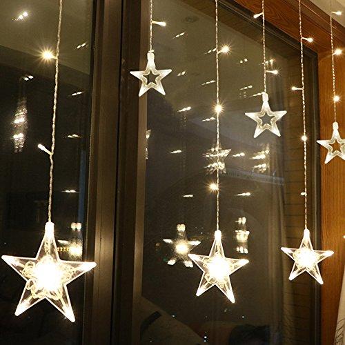 Twelve Stars Fairy Lights 108 LED String Lights String con timer Telecomando 8 modalità Firefly Lights con gancio per Natale Indoor Outdoor Decoration IP44 (Warm White)