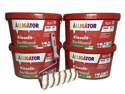 Alligator Kieselit Bio Mineral 4x12,5 Liter + Farbwalze Set
