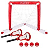 GoSports Lacrosse Floating Pool Game Set - Includes Pool Lacrosse Goal, 2 Water Lacrosse Sticks and 4 Soft Rubber Balls
