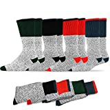 Soxnet Eco Friendly Heavy Weight Recyled Cotton Thermals Boot Assorted Value multi Pair