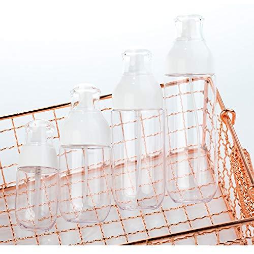 Flacon Vaporisateur Vide, Flacon Vide de Voyage Flacon Pompe Vide, Flacon Rechargeable Voyage pour Lotion Kit de Petite Bout eille Plastique pour Liquides (3pcs)