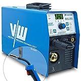 VECTOR Saldatrice MIG 205A Professionale Multifunzione Saldatura Unità di TIG/Elettrodo/MIG, IGBT Inverter MAG Saldatrice a Filo Continuo Gas e Gasless Flux Core/Solid Wire