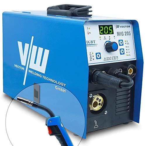 Vector Welding MIG MAG 200 A Soldadora con electrodo MMA Electrodo 160 Amp + Modo de soldadura Wig