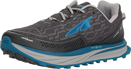 Altra Women's Timp IQ Trail Running Shoes , Charcoal/Blue, 7.5 M US