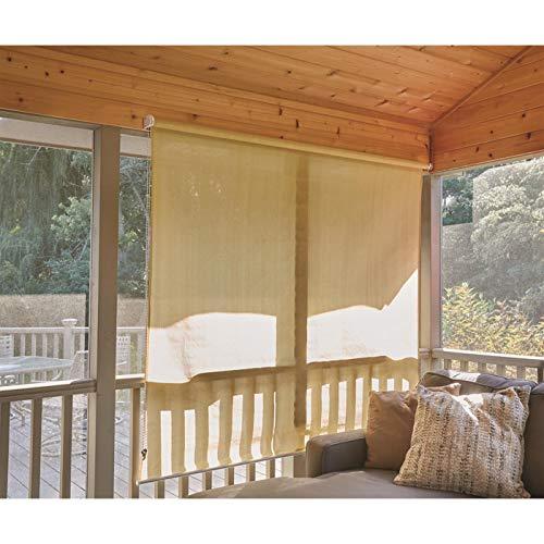 CASTLECREEK Sunscreen Roll-Up Window Shade, Sand, 6X6'