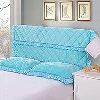 ベッドカバーベッドヘッドカバーベッドカバー2.0メートルベッド1.8メートルベッドキルティングリムーバブルと洗えるオールインクルーシブ保護カバーホームベッドルーム装飾寝具 (Color : Blue 1, Size : 1.8m)