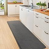 Color&Geometry Alfombra de Cocina 44x150cm.Alfombra Cocina Lavable Antideslizante,Alfombrilla Cocina,alfombras para Cocina,Pasillo,Entrada,Alfombra de Comedor.(Negro)
