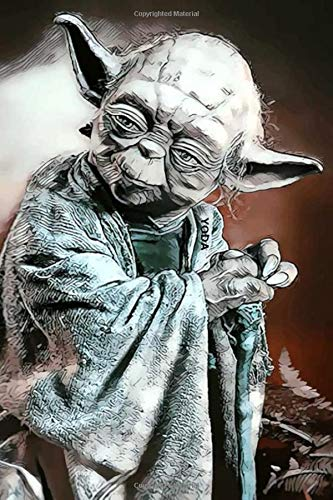 YODA: Notebook, Journal for Writing, Diary (130 Pages, 8.27' x 11.69', in lines with a margin), College Ruled, Unique Composition Notebook for Kids Girl Men Teens Students Adults